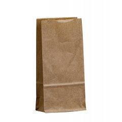 Крафт пакет с прямоугольным дном 80*50*170мм, 70 г/м2 (бурый)