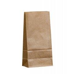 Крафт пакет с прямоугольным дном 120*80*250мм, 70 г/м2 (бурый)