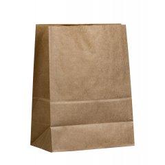 Крафт пакет с прямоугольным дном 180*120*290мм, 70 г/м2 (бурый)