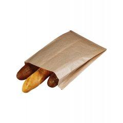 Крафт пакет с V-образным дном со складкой 250*100*390мм, 40 г/м2 (бурый)
