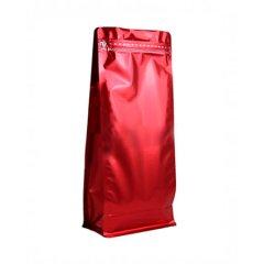 Пакет восьмишовный с отрывным замком, с плоским дном 150+90х345 РЕТ красный