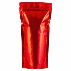 Пакет Дой-Пак 105*215(+35)мм, Металл/PET/БОПП (красный-матовый)