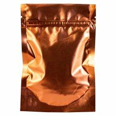 Пакет Дой-Пак 160*230(+45)мм, Металл/PET/БОПП (терракотовый матовый)