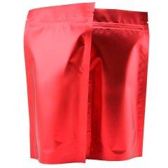 Пакет Дой-Пак 160*230(+45)мм, Металл/PET/БОПП (красный-матовый)