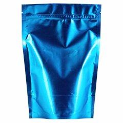 Пакет Дой-Пак 160*230(+45)мм, Металл/PET/БОПП (синий, матовый)
