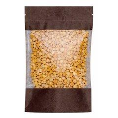 Пакет Дой-Пак 120*185(+30)мм, Крафт (коричневый), с окном