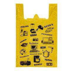 Пакет Майка 38см(+19)*60см, 17мкм, желтая,