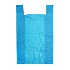 """Пакет Майка 50см(+25)*80см*23мкм, """"Синий"""""""