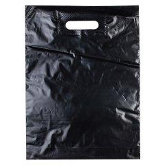 Пакет ВУР 30см*40см(+3)*50мкм, ПВД, черный