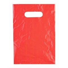 Пакет ВНУР 20см*30см(+0)*45мкм, ПВД, красный