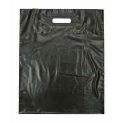 """Пакет с вырубной ручкой 60x70см, """"Черный"""", (70мкм)"""