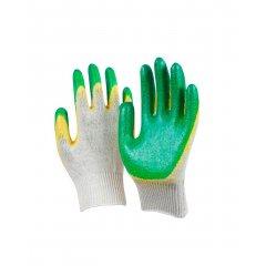 Перчатки с двойным латексным обливом (Желто-зеленый), 44гр., 13 класс