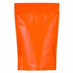 Пакет Дой-Пак 135*200(+40)мм, Металл/PET/БОПП (оранжевый-матовый)