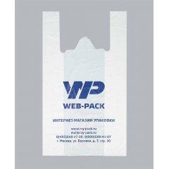 Пакет Майка 28см(+14)*50см*20мкм, белый, Web-pack