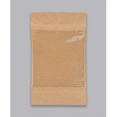 Пакет Дой-Пак 110*185(+30)мм, Крафт (бурый), с окном