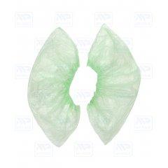 Бахилы особопрочные зеленые, гладкие (100шт)
