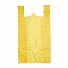 Пакет Майка 30см(+15)*50см*20мкм, жёлтый