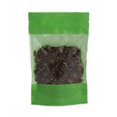 Пакет Дой-Пак 110*185(+30)мм, Крафт (зеленый), с окном