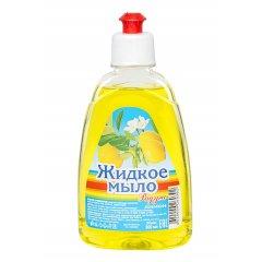 """Мыло жидкое """"РАДУГА"""" с дозатором, Лимон, 300мл"""