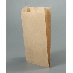 Крафт пакет с V-образным дном со складкой 110*50*610мм, 40 г/м2 (бурый) (1000 в кор.)