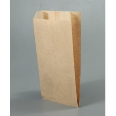 Крафт пакет с V-образным дном со складкой 140*60*250мм, 40 г/м2 (бурый)