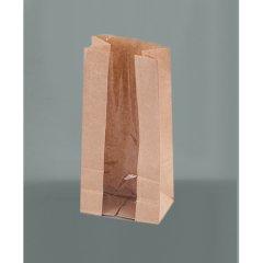 Крафт пакет с продольным окном 120(50)*80*250 мм (1 слой), бурый