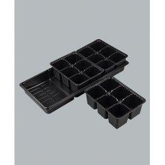 Комплект: поддон(446ммх240ммх66мм)+3 кассеты для рассады 6 ячеек(178ммх136ммх63мм)