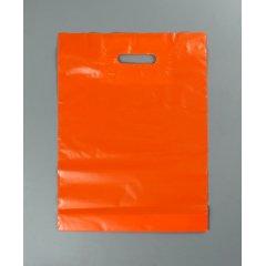 """Пакет с Вырубной ручкой 30х40см, """"Оранжевый"""" (60мкм)"""