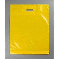 """Пакет с Вырубной ручкой 40х50см, """"Желтый"""" (60мкм)"""