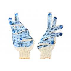 Перчатки вязанные х/б с двухсторонним ПВХ,