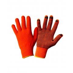 Перчатки Акриловые утепленные с начесом с ПВХ,