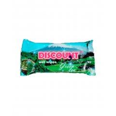 Салфетки влажные Discount 15шт. (Зеленый чай)