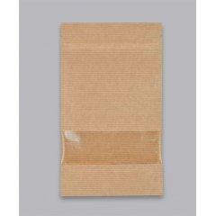 Пакет Дой-Пак 105*150(+30)мм, Крафт (бурый) с окошком 40мм