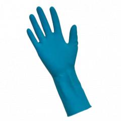 Перчатки повыш.прочности удлин. латекс. нестер. неопудрен.1хлор.текстур. синие, S