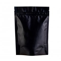 Пакет Дой-Пак 105*150(+30)мм, Металл/PET/БОПП (черный-матовый)