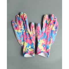 Перчатки нейлоновые тонкие садовые с полимерным покрытием ладони и пальцев, размер L