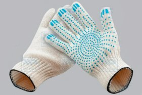 Перчатки с ПВХ-нанесением