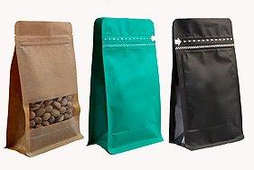 Восьмишовные пакеты для фасовки чая, кофе, снеков
