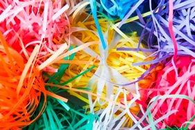 Бумажные цветные наполнители для упаковки