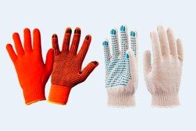 Рабочие х/б перчатки с ПВХ покрытием