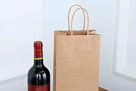 Крафт пакеты под бутылку